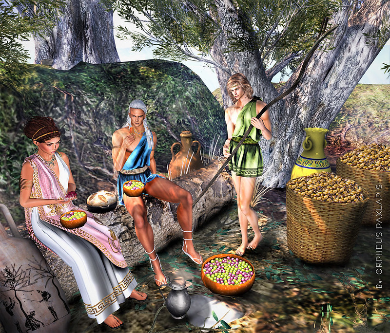 A day in the Ancient Greek times with friends