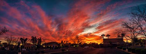 scottsdale arizona unitedstates sky sunset clouds city