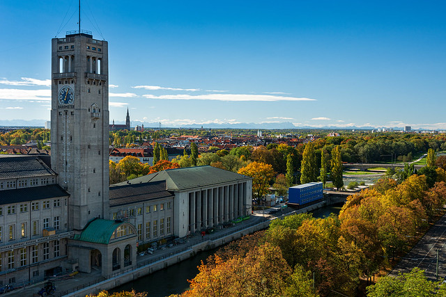 German Museum with view to the alps