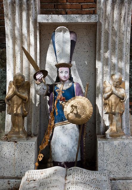 St. Michael Archangel Guards a Grave