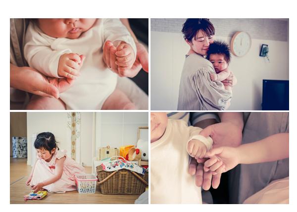 家族の写真 日常風景 赤ちゃんの手 ご自宅