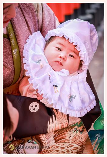 お宮参り 男の子赤ちゃん お帽子とよだれかけ