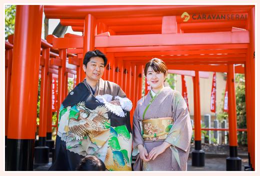 春のお宮参りで川原神社へ♪ご家族そろってお着物で | 名古屋市昭和区
