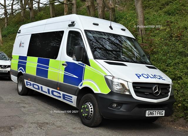 Kent Police Mercedes Sprinter GN67 FKG