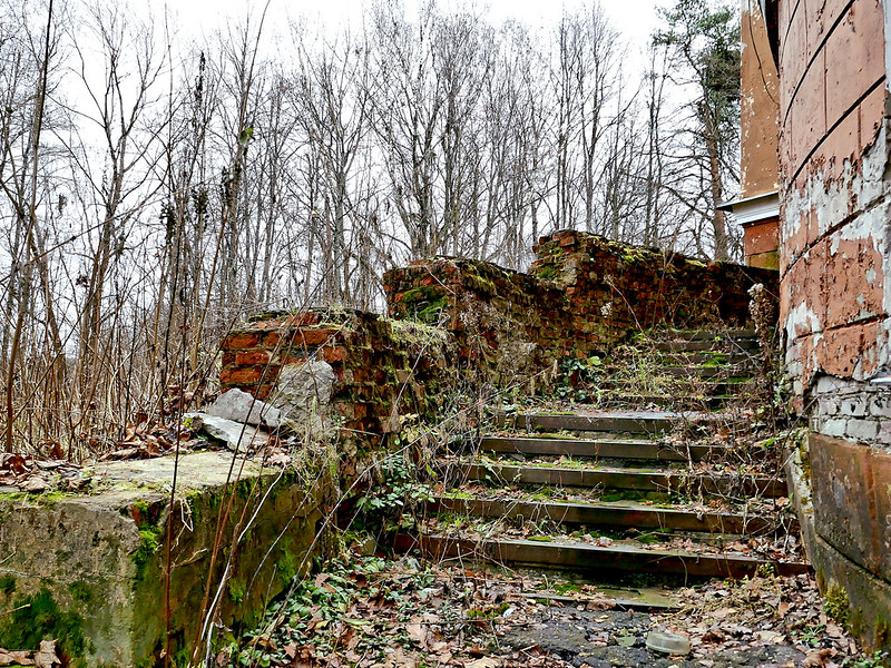 Destroyed stairs