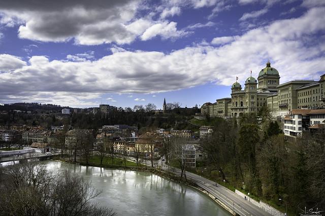 Federal Palace of Switzerland view from Kirchenfeldbrücke - Bern City - Switzerland