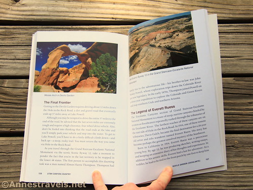 Pages detailing the history of the Devils Garden area of Grand Staircase-Escalante National Monument, Utah Canyon Country, Laurie J. Schmidt