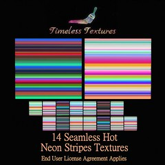 TT 14 Seamless Hot Neon Stripes Timeless Textures