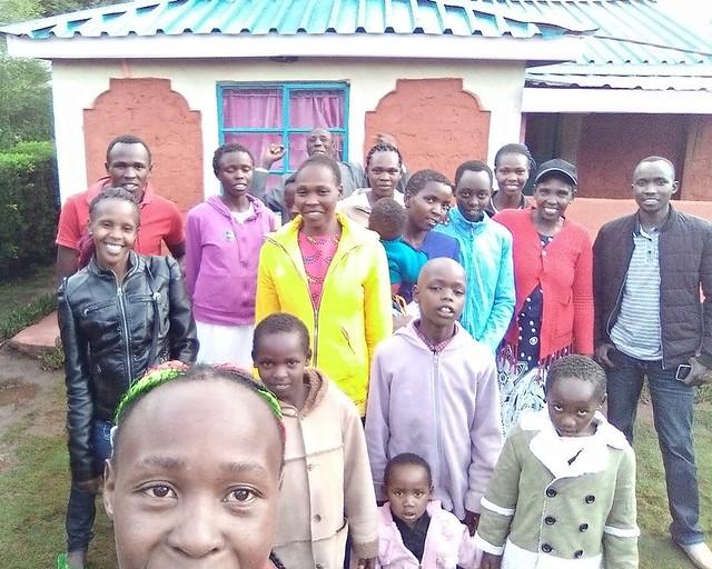 Joyce Kimeli and her family in Kenya.