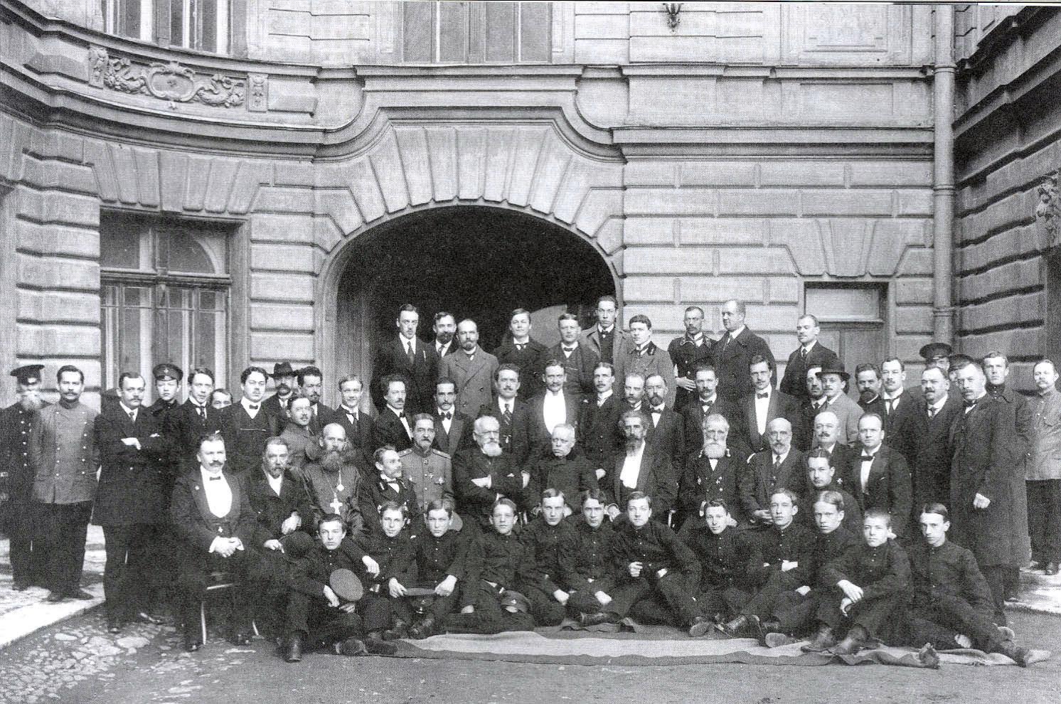 1901. Руководители Придворной Певческой капеллы и учащиеся регентских классов