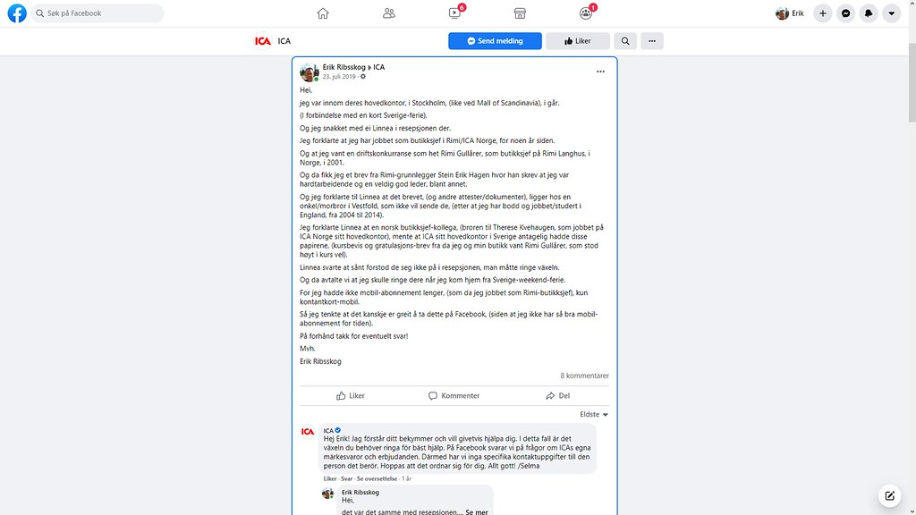 ica facebook tull