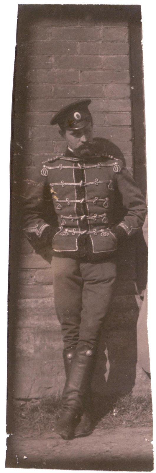1906. Греве А.А.в гусарской форме