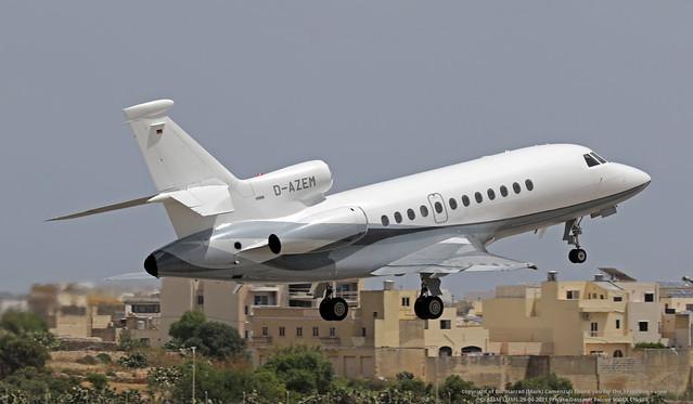 D-AZEM LMML 29-04-2021 Private Dassault Falcon 900EX CN 133