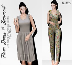 [ILAYA] Flora Dress and Jumpsuit @ UBER