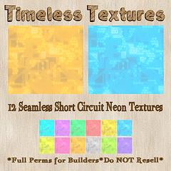 TT 12 Seamless Short Circuit Neon Timeless Textures