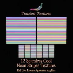 TT 12 Seamless Cool Neon Stripes Timeless Textures