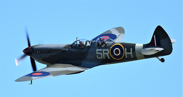 RAF Supermarine Spitfire two-seater T.9 trainer version MkIX PV202 G-CCCA 5R-H No 33 Squadron