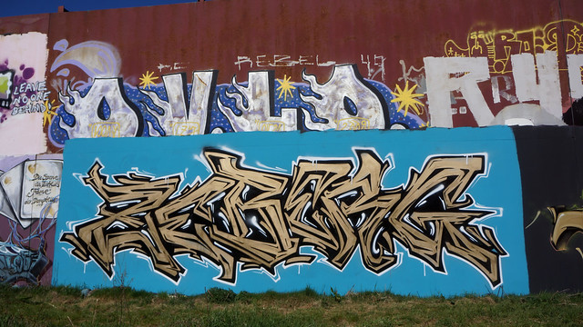 OLDENBURG - Metal Wall / - Street: Stedinger Straße, Drielaker Straße / -  Graffiti, Streetart / - the 261st picture