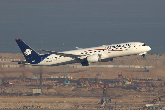 XA-MFG, Boeing 787-9, Aeromexico, Hong Kong