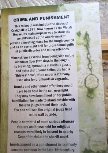 Notice, Fife Folk Museum, Ceres