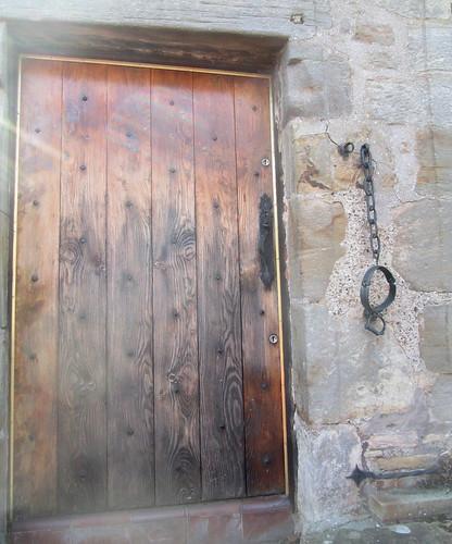 Doorway and Jougs, Fife Folk Museum, Ceres