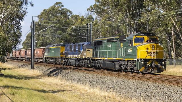 Locomotives C509 / 1202 (NREC National Rail Equipment Company USA) / RL302 as SSR's run 4847N