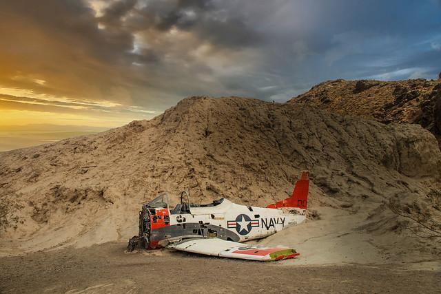 Aircraft Wreckage in the Desert