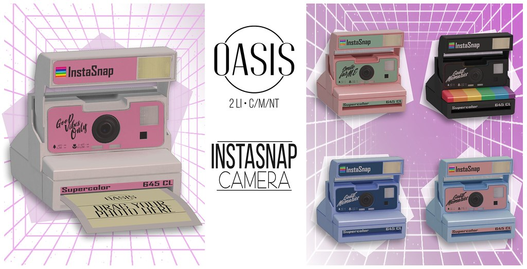 """Oasis: """"InstaSnap"""" Camera (PACK)"""