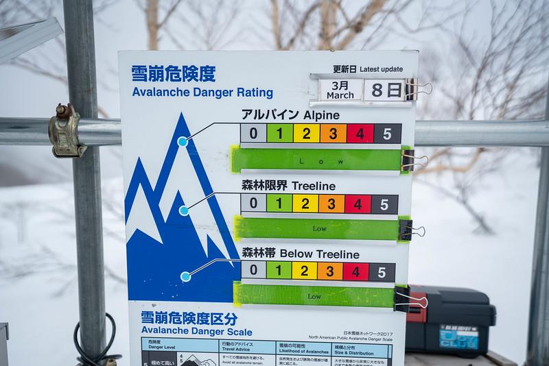 遠見尾根の雪崩危険度