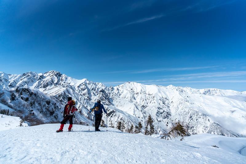 冬の白馬連峰の集合写真
