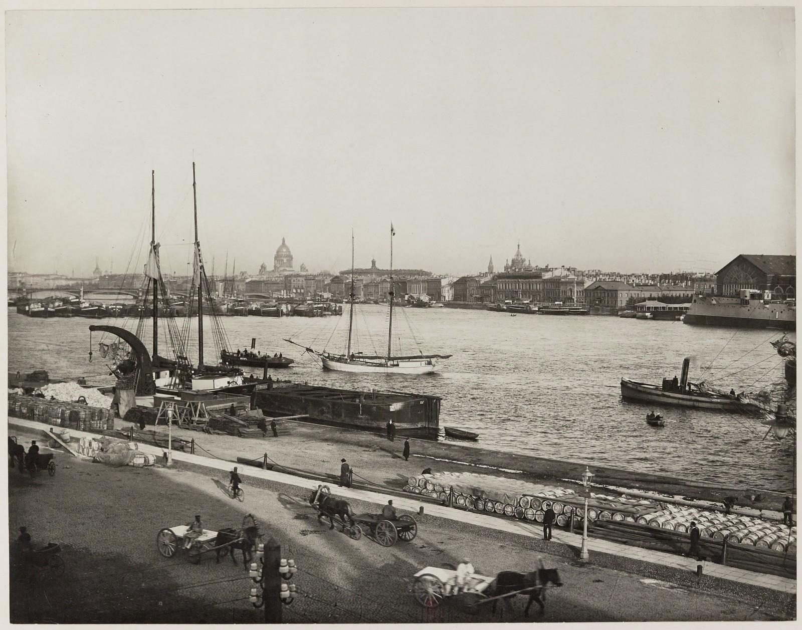 1910. Панорама Невы после Николаевского моста