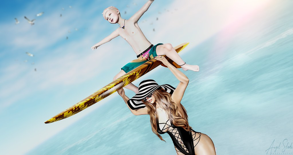 Summer Vacation: Mother & Son Surf