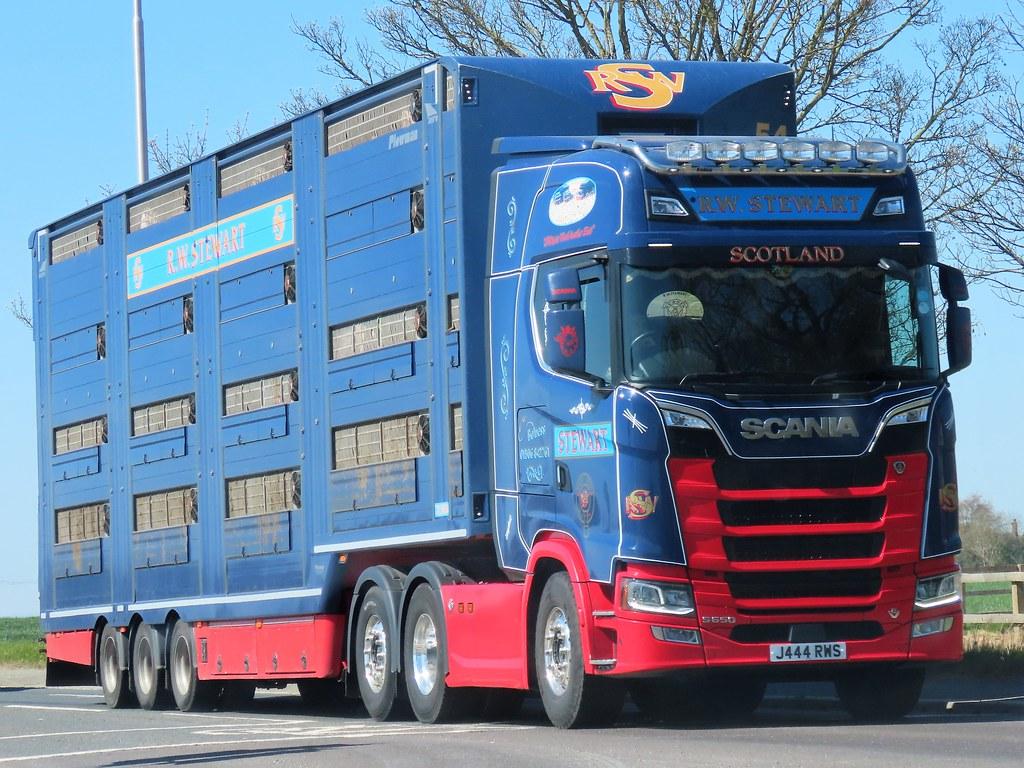 R W Stewart, Scania S650 V8 (J444RWS) On The A59 York, 22/4/21