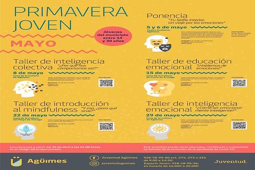 "Cartel de actividades del programa ""Primavera Joven"""