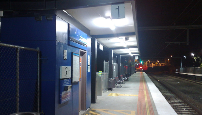 At Laburnum station (April 2011)