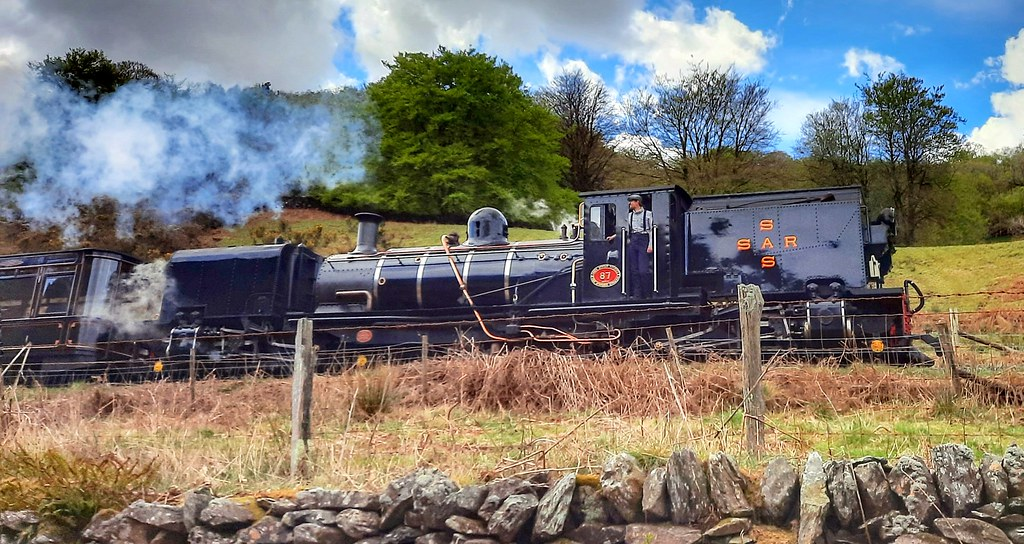 Big steam locomotive