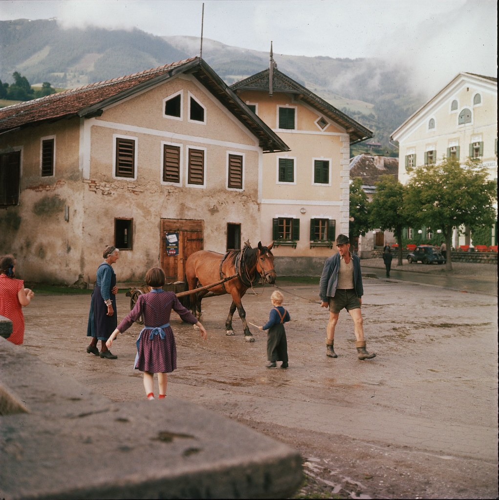 16. Площадь в городке Мёрбиш-ам-Зе у озера Нойзидлер в Бургенланде