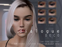 NEW Deco two-tone eyeliner for Lelutka EvoX out now!