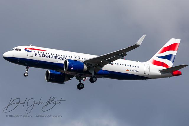 British Airways • Airbus A320neo • G-TTNO