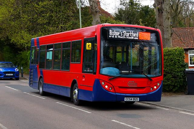 Refreshed: Trustybus (ex Arriva London ENL44) ADL Enviro200 10.2m CC54BUS (formerly LJ09KPG) Hadham Road Bishops Stortford 29/04/21