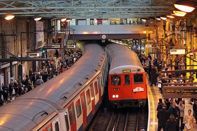 Final run of 'A' Stock at Farringdon on 26 September 2012