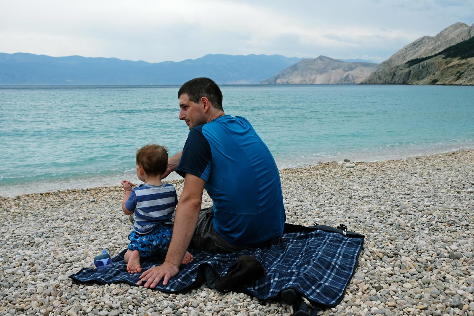 Baska Beach, Krk Island, Croatia