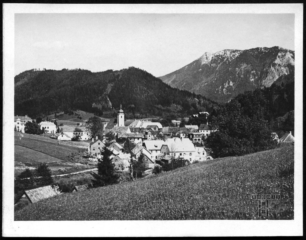 ArchivTappen233AAl3j643 Aufenthaltsort in der K.L.V., Lunz mit Scheiblingstein, Österreich, 1930-1940er