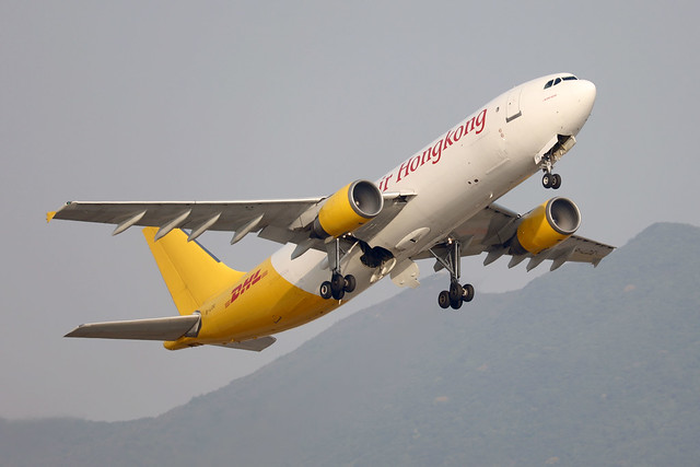 Air Hong Kong - DHL A300-605R B-LDE departing HKG/VHHH