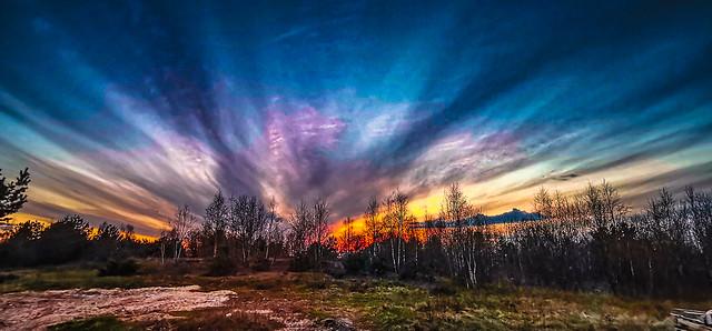 Rainbow Sunset in the Świętokrzyskie Mountains