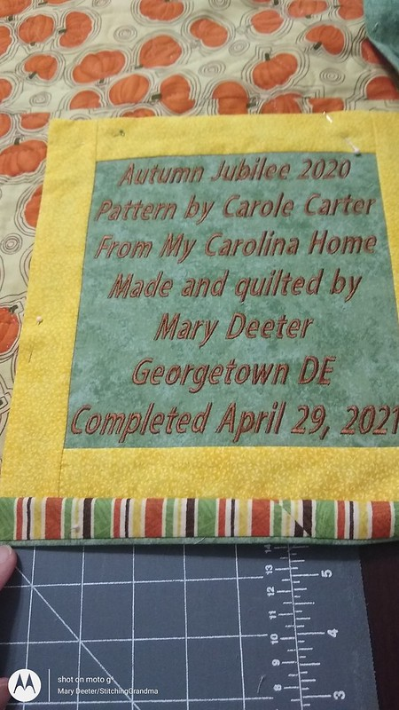 Quilt label done