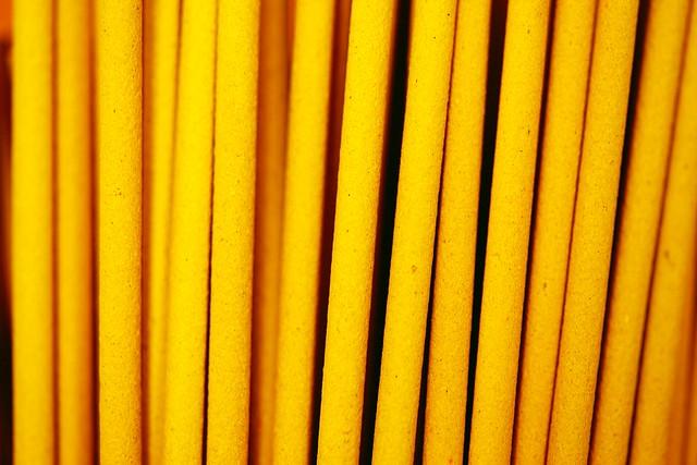 Yellow Incense Sticks Wallpaper