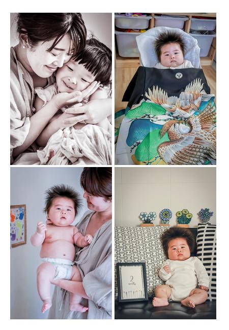 おうちでお宮参りの写真 裸の写真も赤ちゃんならでは!