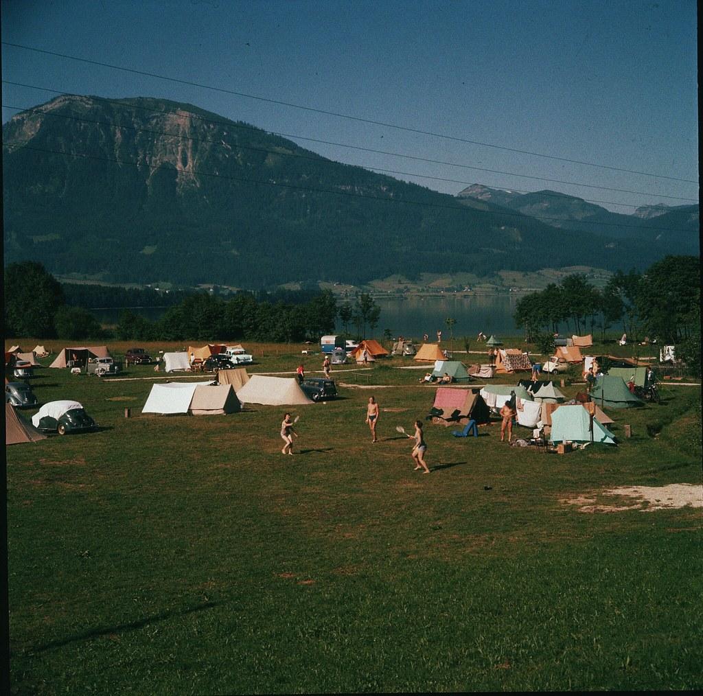 26. Кемпинг у Вольфгангзее,на границе федеральных земель Верхняя Австрия и Зальцбург