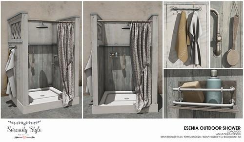 Serenity Style- Esenia Outdoor Shower